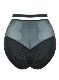 Culotte taille haute Unzipped noir - Scantilly Lingerie