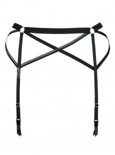 Porte-jaretelles Unzipped noir - Scantilly Lingerie