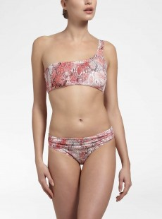 Haut de maillot de bain asymétrique -  Sahara Sangria - Cyell