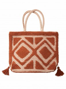 Sac de plage brodé rouge - Bags - Cyell