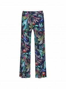 Pantalon large bleu imprimé fleuris - Hamptons - Cyell