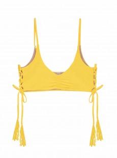 Haut de maillot de bain brassière Marigold Jaune - PilyQ