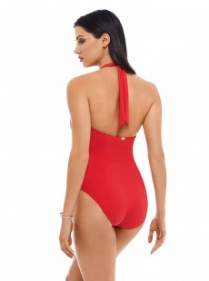 Maillot de bain lissant 1 pièce Sorrento Rouge - Inner Circle - Amoressa
