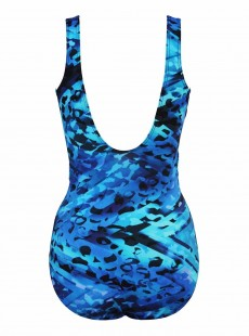 "Maillot de bain 1 pièce gainant Revele bleu - Turning Point - "" M "" - Miraclesuit Swimwear"