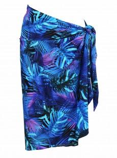 """Paréo Sarong bleu - Royal palms - """" M """" - Miraclesuit Swimwear"""