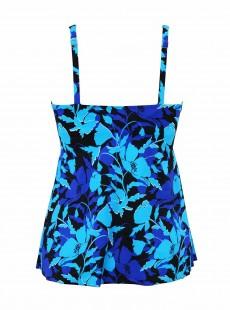 "Surplice Tankini Top Bleu - Petal Play - ""M"" - Miraclesuit Swimwear"