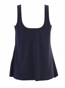 "Ursula Tankini Top Bleu Nuit - Solid - ""W"" - Miraclesuit Swimwear"
