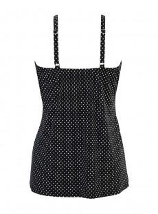"Love Knot Tankini Top Noir et Blanc - Pin Point - ""FC"" - Miraclesuit Swimwear"