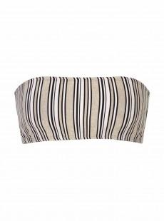 Haut de maillot de bain Bandeau à rayures Harbour Stripes - PilyQ