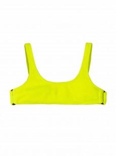 Haut de maillot de bain brassière Pineapple Reef Jaune - PilyQ