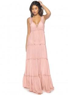 Robe longue Gulsina Pink Sand Rose - PilyQ