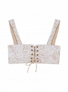 Haut de maillot de bain Brassière blanc Exuma - PilyQ