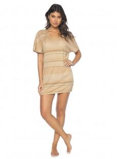 Tunique courte à rayures Maggie Gold Pearl - PilyQ