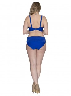 Culotte de bain à revers Sheer Class Bleu - Curvy Kate Swimwear