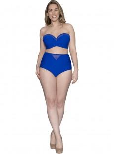 Haut de maillot de bain Bandeau Sheer Class bleu - Curvy Kate Swimwear