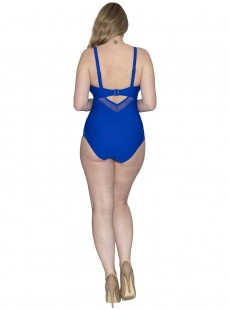 Maillot de bain 1 pièce Sheer Class bleu - Curvy Kate Swimwear