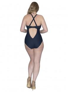 Maillot de bain 1 pièce bleu marine Poolside - Curvy Kate Swimwear