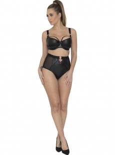 Culotte taille haute noire - Harnessed - Scantilly Lingerie
