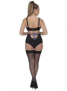 Culotte taille haute porte-jarretelle noire - Encounter - Scantilly Lingerie