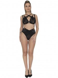 Culotte brésilienne taille haute noire - Black Magic - Scantilly