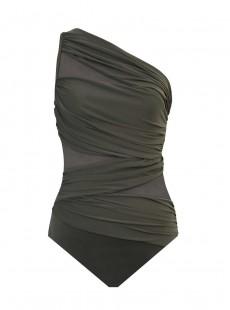 "Maillot de bain gainant Jena Olive - Network - ""M"" - Miraclesuit swimwear"