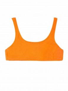 Haut de maillot de bain brassière Papaya Reef Orange - PilyQ