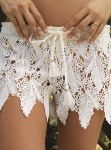 Short de plage transparent blanc - Lucca - Milonga
