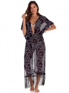 Robe longue à motifs - Napoles - Milonga