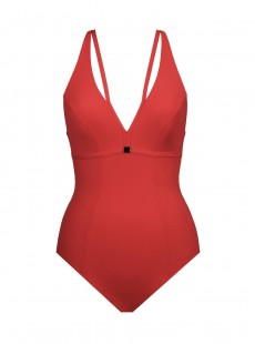 Maillot de bain lissant 1 pièce Bagheera Rouge - Panther - Amoressa