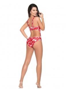 Maillot de bain une pièce à imprimés fleuris rouge - Deluxe Flowers - Phax
