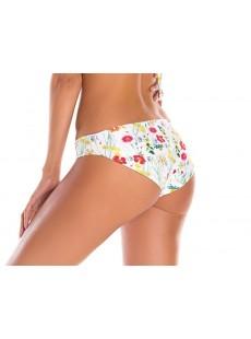 Culotte de bain brésilienne imprimés fleuris blanc - Sienna - Milonga