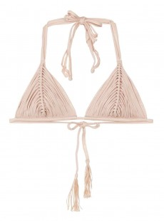 Haut de maillot de bain triangle Seashell Nude - PilyQ