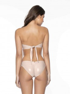 Haut de maillot de bain Bandeau Seashell Nude - PilyQ