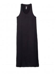 Robe de plage longue noire Robin Midnight - PilyQ