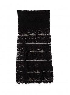 Robe de plage courte / Jupe en dentelle noire Midnight - PilyQ