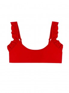 Haut de maillot de bain brassière Red Coral Rouge - PilyQ