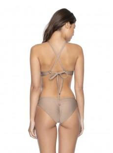 Haut de maillot de bain bandeau Seashell tricolore - PilyQ