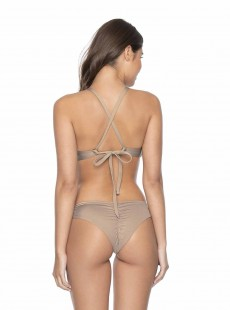 Culotte de bain échancrée nude Seashell - PilyQ