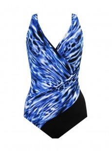 """Maillot de bain gainant Oceanus Bleu - Lynx Lazuli - """"W"""" -Miraclesuit Swimwear"""