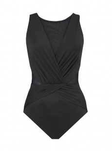 "Maillot de bain gainant Palma Noir - Illustionists - ""M"" -Miraclesuit Swimwear"