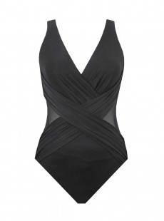"Maillot de bain gainant Crossover Noir - Illusionists - ""W"" - Miraclesuit Swimwear"