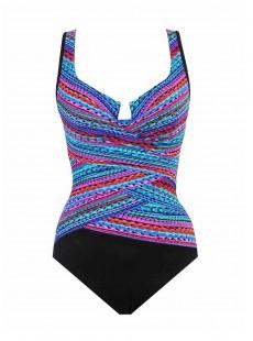 """Maillot de bain gainant Escape Multicolor - Carnivale - """"W"""" -Miraclesuit Swimwear"""
