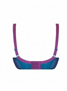 Soutien-gorge plongeant Flutterby bleu / violet - Curvy Kate Lingerie