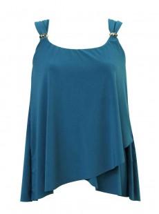 "Tankini Dazzle Bleu Canard - Razzle Dazzle - ""M"" - Miraclesuit Swimwear"