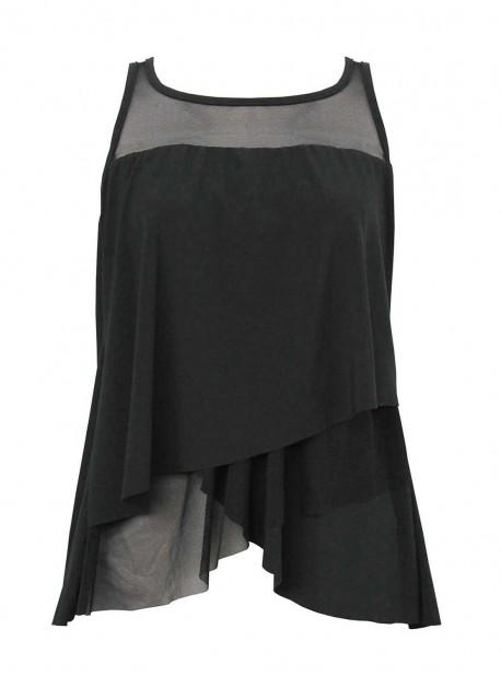 """Tankini Mirage Noir - Illustionists - """"W"""" - Miraclesuit Swimwear"""