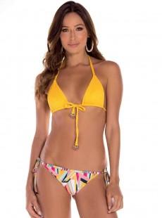 Culotte de bain brésilienne imprimés à rayures - Lucca - Milonga