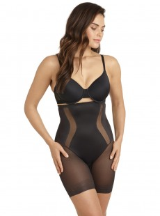 Panty gainant taille haute noir - Middle Manager - Cupid Fine Shapewear