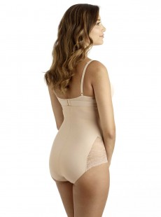 Panty taille extra haute gainant Nude - A little lace a lot of shape - Naomi & Nicole
