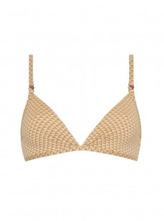 Haut de maillot de bain triangle - Sparkles Gold - Cyell