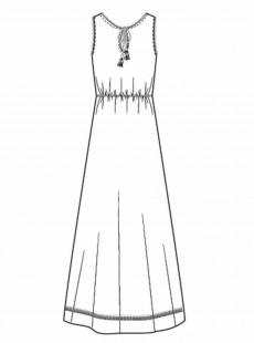 Robe Longue Blanc - Sunrise - Cyell